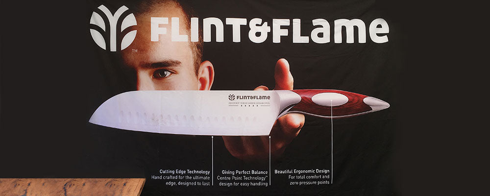 Flint and Flame Professional Chefs Knives Make Great Unusual Gifts and Present Ideas