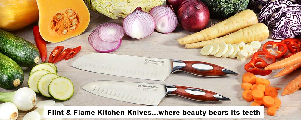 Flint and Flame Professional Chefs Kitchen Carving Knives