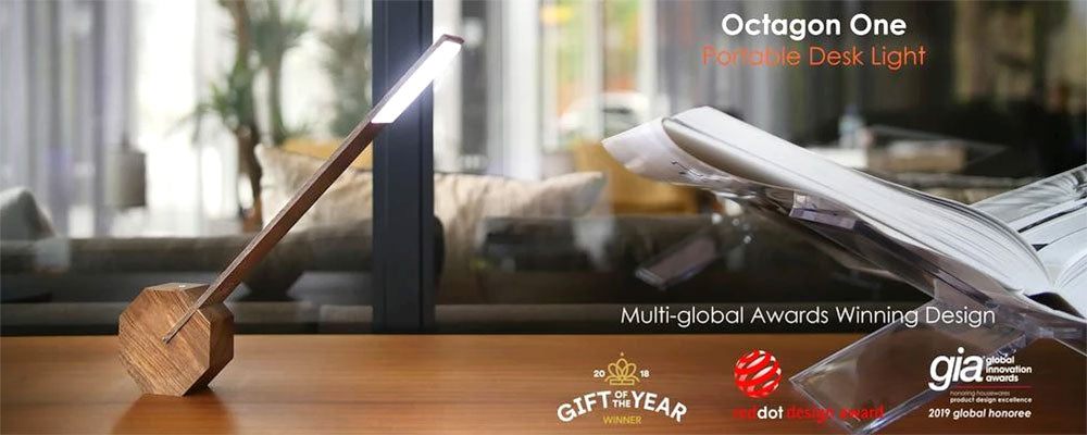 Gingko Octagonal One Multi Directional LED Portable Desk Lamp
