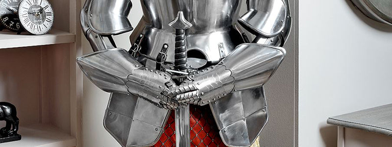 Medieval Armour, Leather Armour, Steel Armour, Chainmail Armour, Shields and Helmets