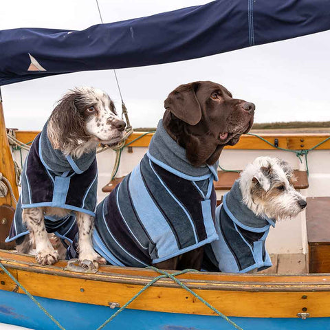 Ruff and Tumble Blue Harbour Dog Drying Coats