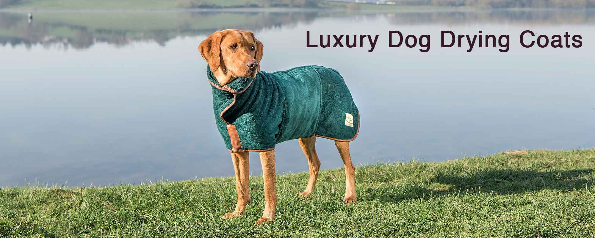 Ruff and Tumble Luxury Designer Dog Drying Coats in High Quality Cotton Towelling in a Range of Colours, Styles and Sizes - Buy Now at Unusual Designer Gifts UK Store