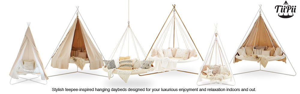 Tiipii round hanging hammock day bed tent