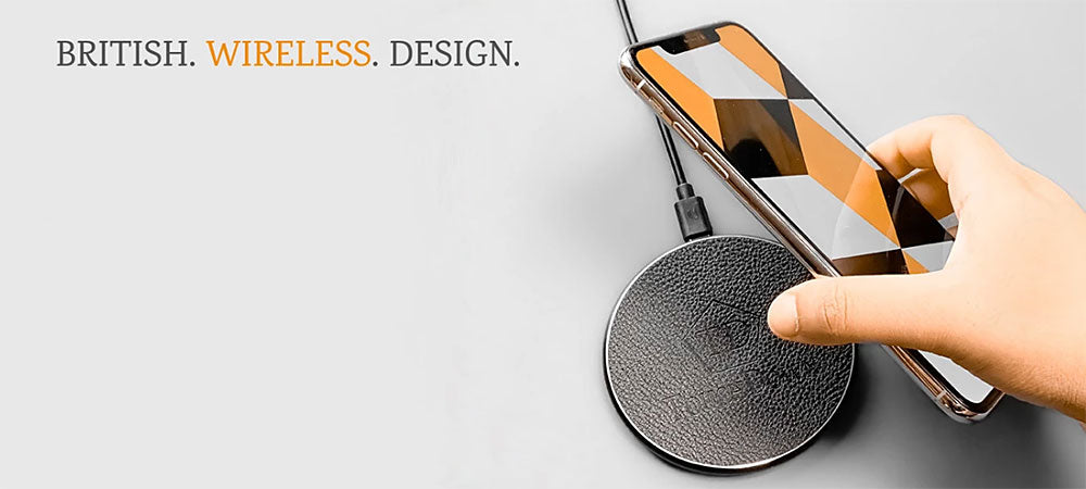 Touchdown Charging Wireless Mobile Phone Device Chargers, LED Desk Lamp Wireless Chargers, Charging Pads and Receivers for Apple IOS and Android Phones