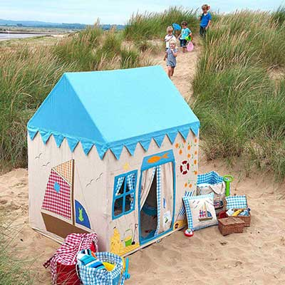 Children's Beach Themed Playhouse Play Tent Cottage with Matching Accessories