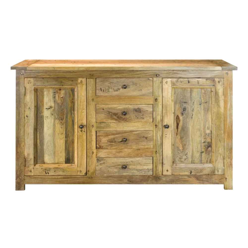 ARTISAN Granary Royale Solid Mango Wood Four Drawers Sideboard