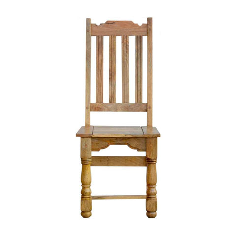 ARTISAN Granary Royale Set of Two Solid Wood Dining Chairs (x2) Front View
