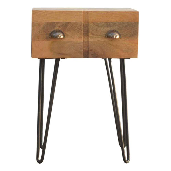 ARTISAN Bedside table with Iron Legs