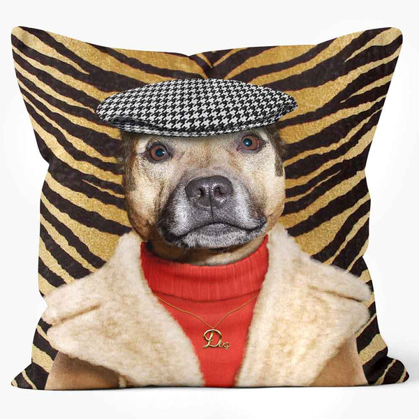 ARTWORLD PHOTO CUSHIONS 'Dog Boy' Tiger Stripe Photo Cushion - Large | Medium