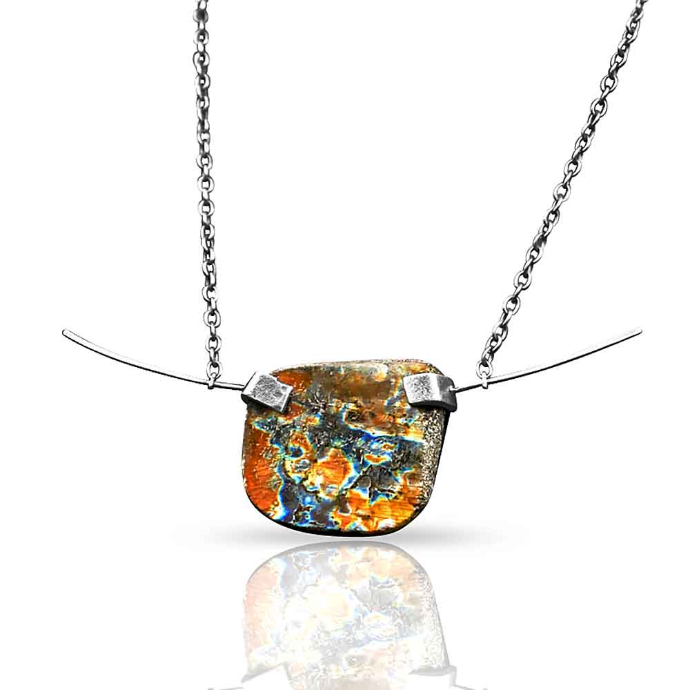 CAMILLA WEST JEWELLERY Oxidised Sterling Silver Labradorite Necklace