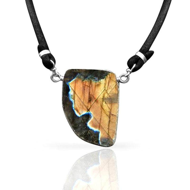 CAMILLA WEST JEWELLERY Labradorite Chunk Necklace