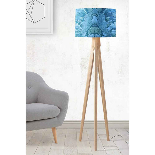 ARTWORLD LAMPSHADES 'Acanthus' Round Blue Lampshade by William Morris