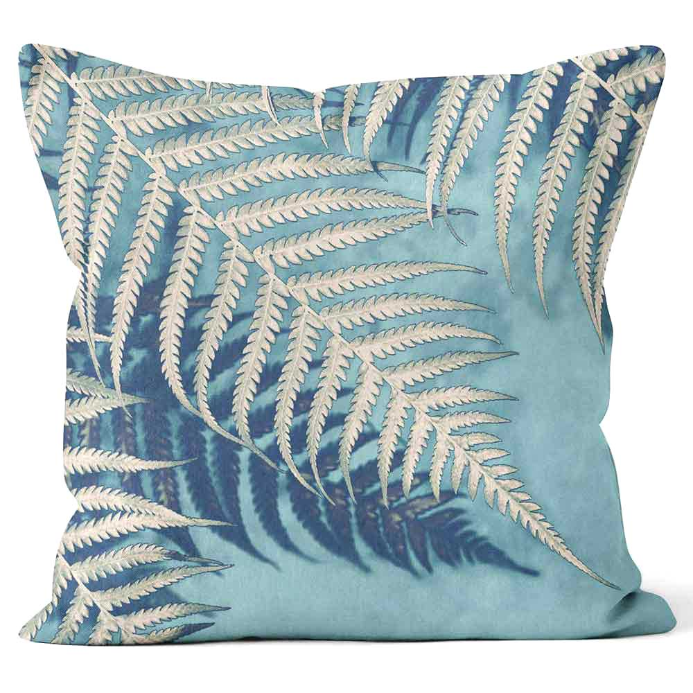 ARTWORLD CUSHIONS 'Blue Fern' Ella Lancaster Print Cushion - Large | Medium