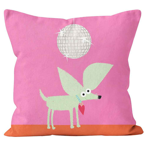 Cushions Are Us  'Chihuahua' Disco Dog Pink Children's Photo Cushion - Large | Medium