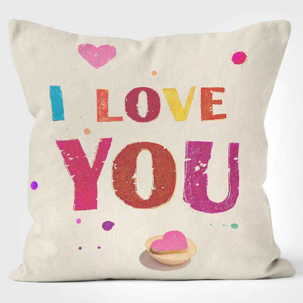 ARTWORLD CUSHIONS 'I Love You' Paper Lollipop Print Cushion Medium | Large