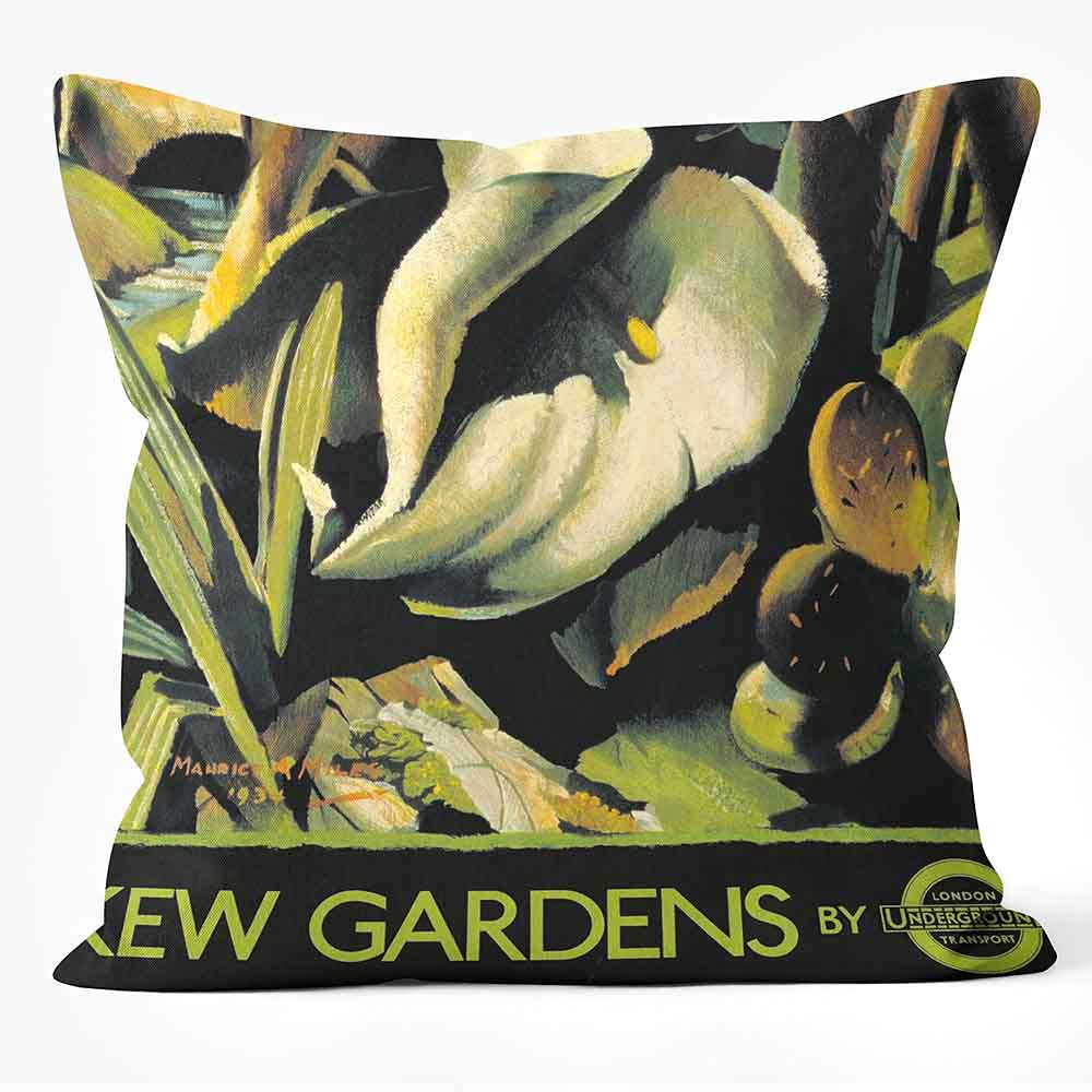 ARTWORLD CUSHIONS 'Kew Gardens' London Transport Print Cushion Medium | Large