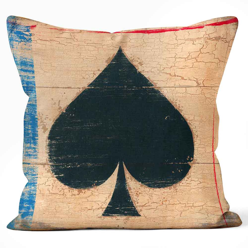 ARTWORLD CUSHIONS 'Spade' Playing Card by Martin Wiscombe Print Cushion Medium | Large