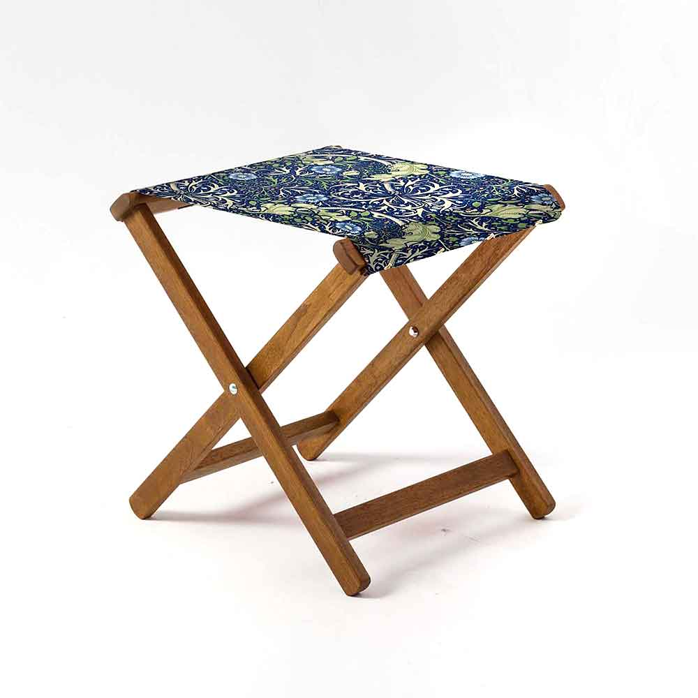 ARTWORLD STOOLS Seaweed by William Morris Hardwood Folding Stool - 10 Day Delivery