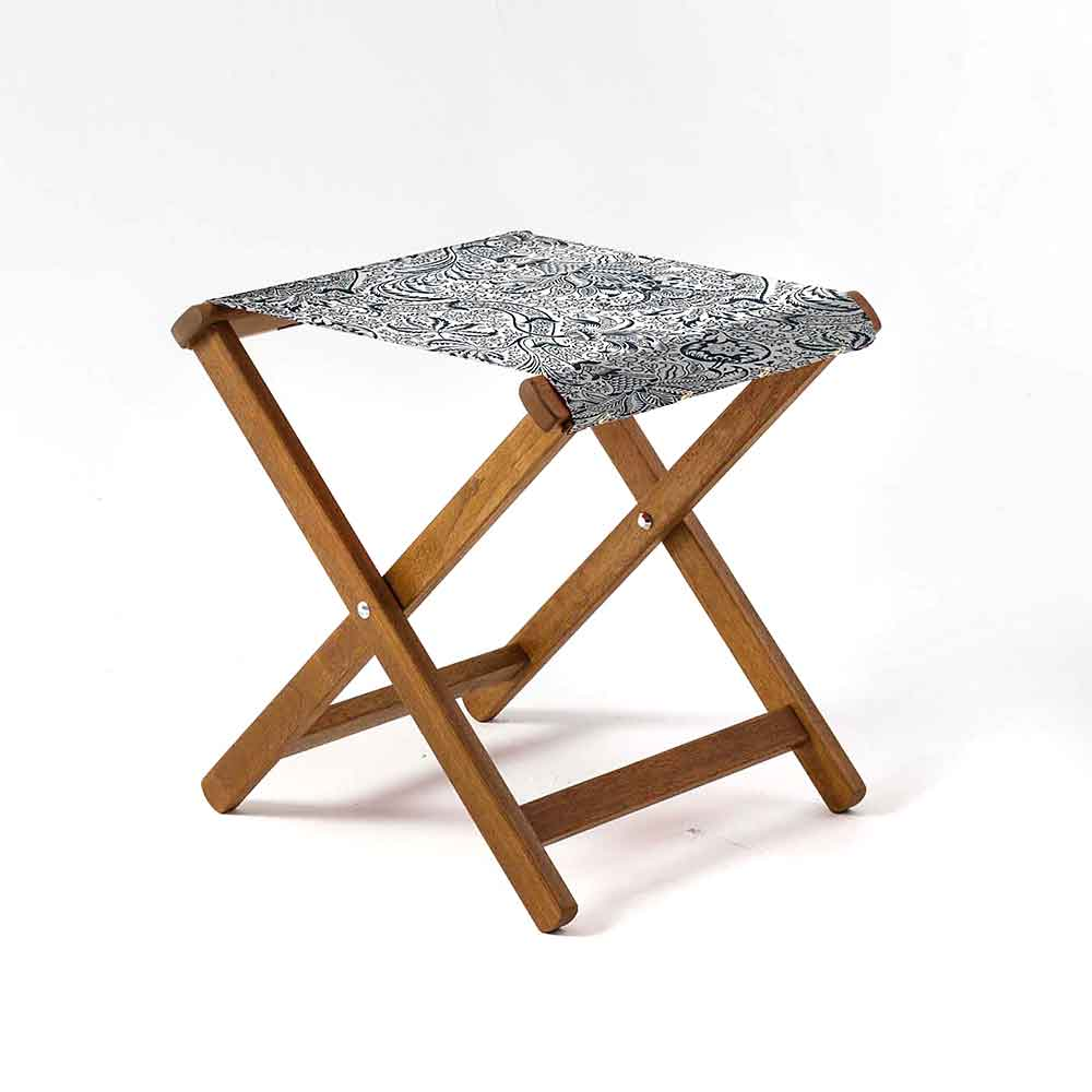 ARTWORLD STOOLS Indian by William Morris Hardwood Folding Stool - 10 Day Delivery