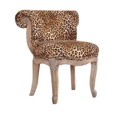 ARTISAN Solid Carved Wood Studded Velvet Chair available in Six Colours