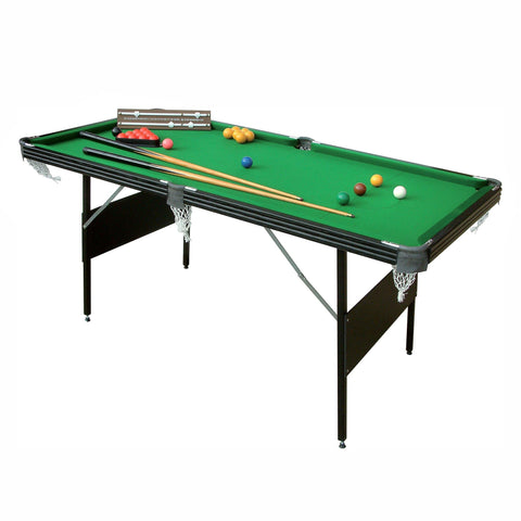 Mightmast Crucible 6' Fold Up 2-in-1 Snooker and Pool Table Game