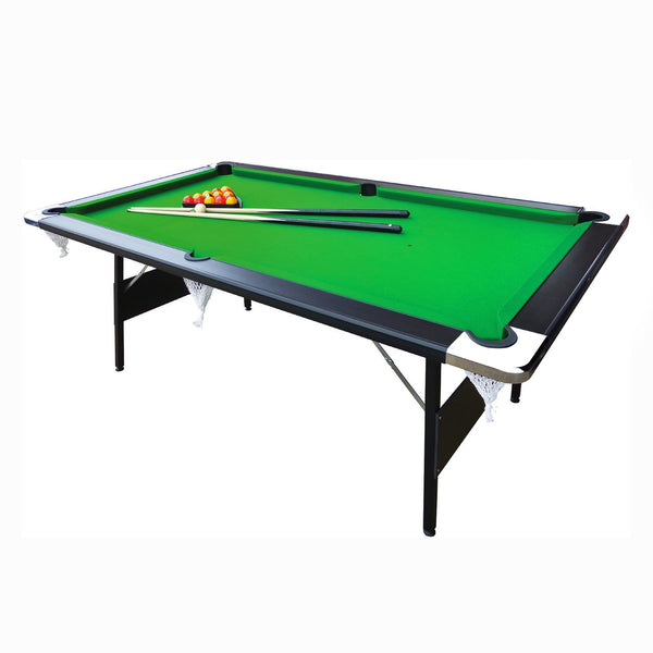 MIGHTYMAST Hustler 7ft Fold Up English Black Wood Pool Table Game