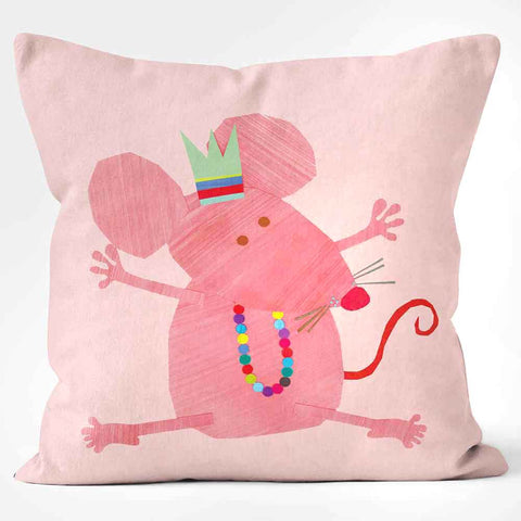 Cushions Are Us Pink Mouse Kali Stileman Cushion Pillow