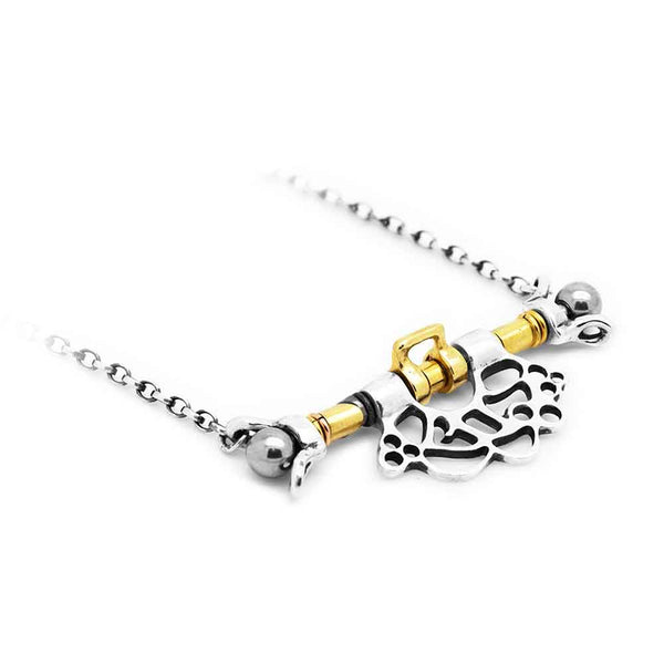 MAY HOFMAN JEWELLERY Talis Necklace in Silver, Gold and Stainless Steel