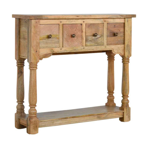 ARTISAN Granary Royale Four Drawer Narrow Console Table