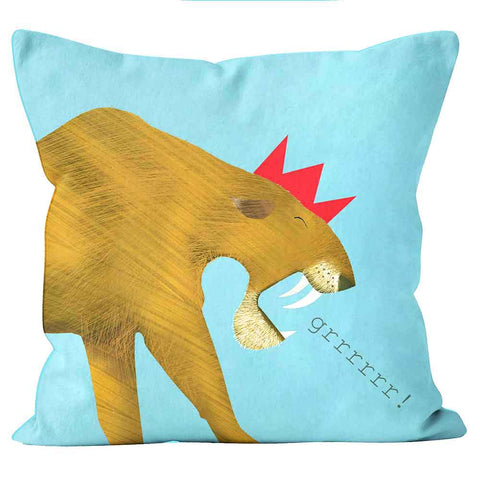 Cushions Are Us Sabre Tooth Tiger Kali Stileman Cushion Pillow