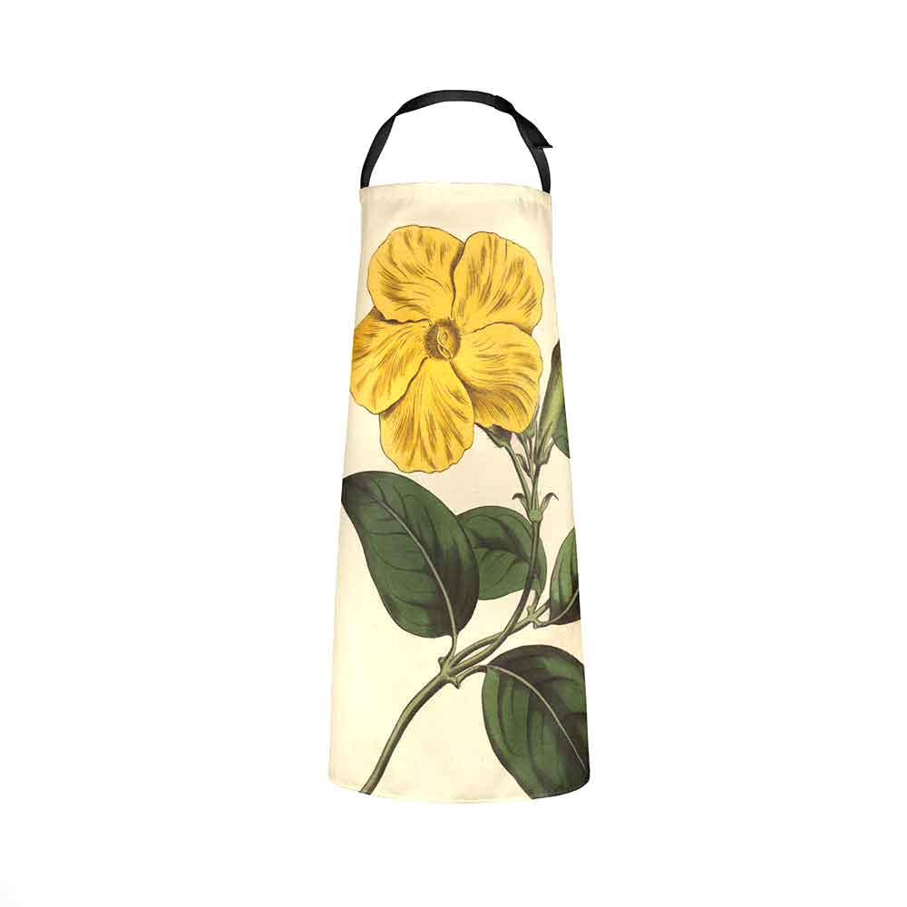ARTWORLD APRONS 'Savanna Botanicals' Yellow Flower Kitchen Apron by Willian Curtis
