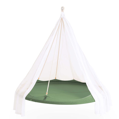 TIIPII Nester Large Hanging Teepee Hammock Floating Daybed in Green - unusualdesignergifts.co.uk