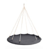 TIIPII Nester Large Hanging Teepee Hammock Floating Daybed in Charcoal Grey