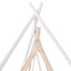 TIIPII Powder Coated White Steel Teepee TriPod Hammock Stand
