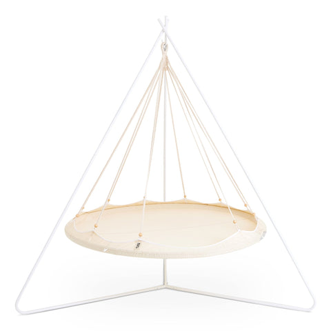 TIIPII Powder Coated White Steel Teepee TriPod Hammock Stand - unusualdesignergifts.co.uk