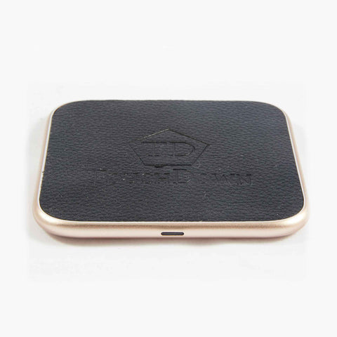 TOUCHDOWN CHARGING Rose Gold Square Business Edition Smartphone Wireless Charging Pad - unusualdesignergifts.co.uk