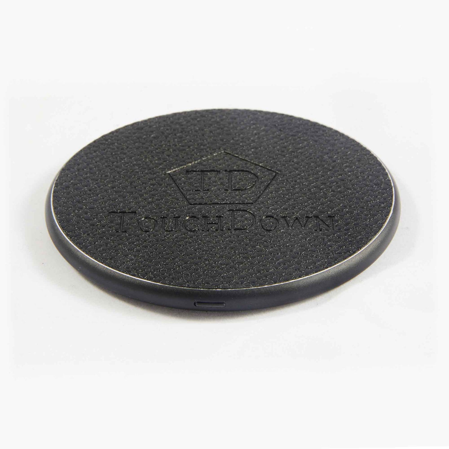 TOUCHDOWN CHARGING Black Round Smartphone Wireless Charging Pad
