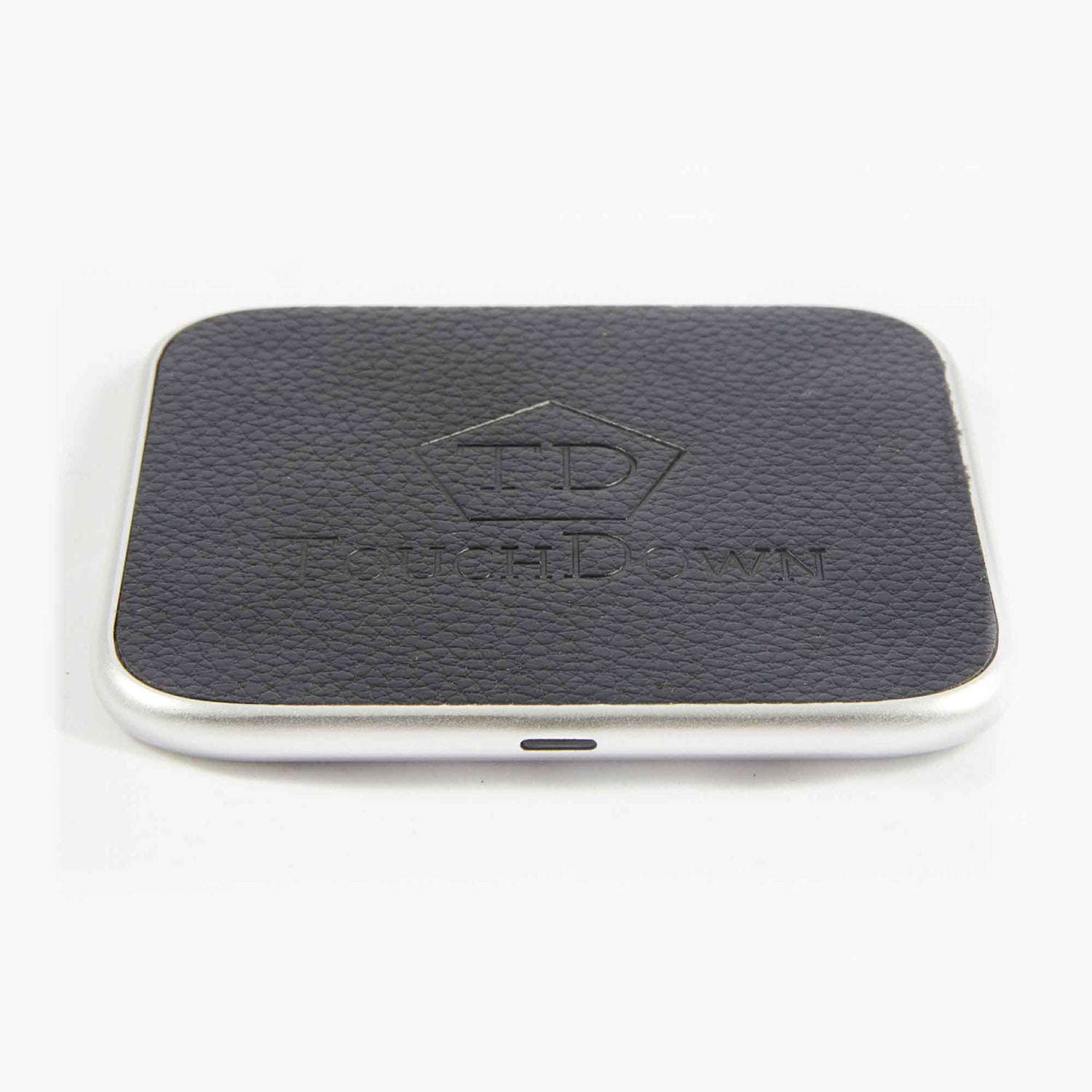 TOUCHDOWN CHARGING Silver Square Smartphone Wireless Charging Pad
