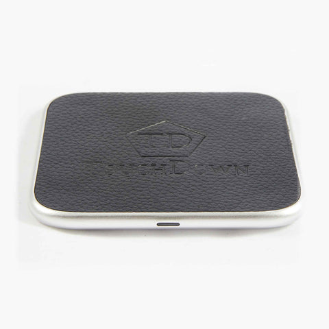 TOUCHDOWN CHARGING Silver Square Business Edition Smartphone Wireless Charging Pad - unusualdesignergifts.co.uk
