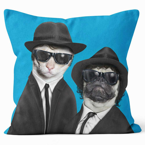 Cushions Are Us 'Brothers' Cat and Dog Photo Cushion - Large | Medium