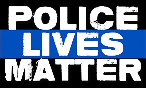POLICE Lives Matter Sticker (bumper pro cop thin blue line)