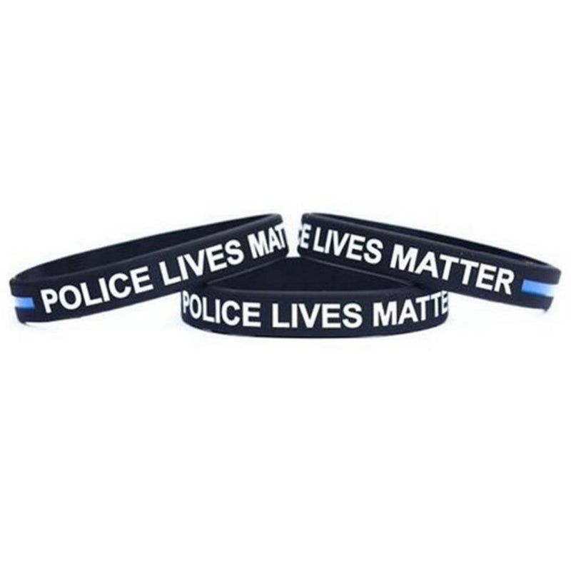 Fashion Style Police Lives Matter Wristbands