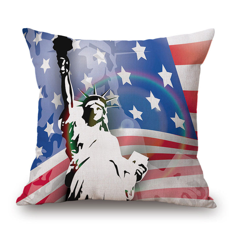 2017 Square Flag Style decorative throw pillow