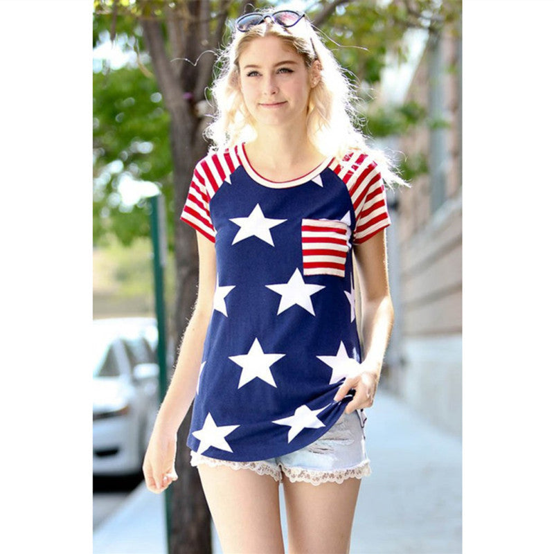 Women's American Flag Stars and Stripes