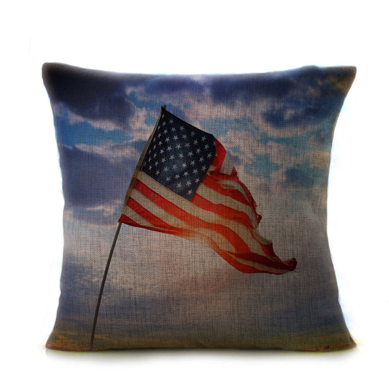 Vintage American Flag Pillow
