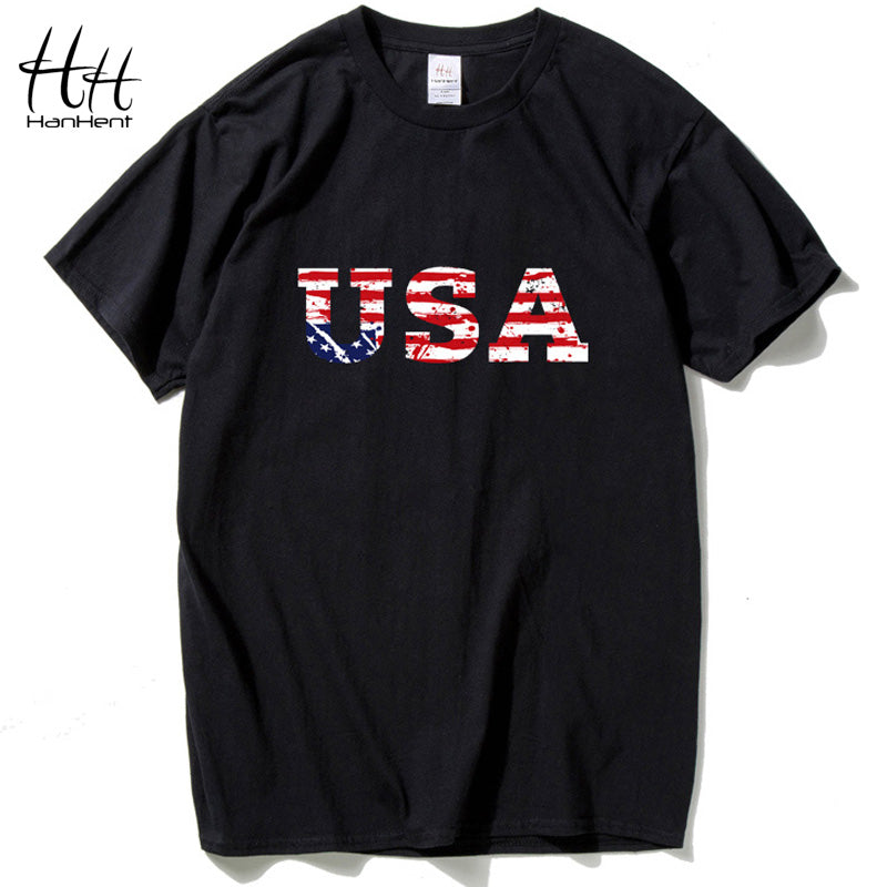 HanHent USA American Flag t shirt