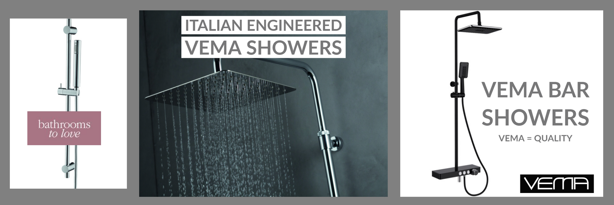 Vema showers on sale at Bathroom Deals UK
