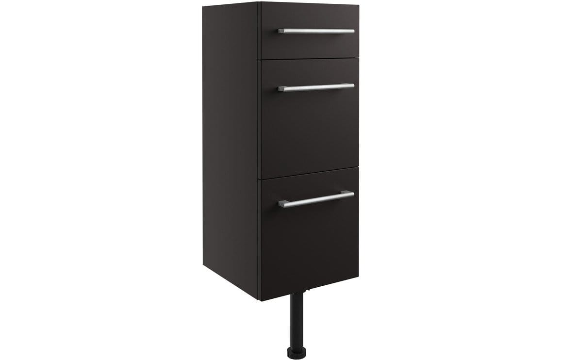 Bathrooms to Love Alba 300mm 3 Drawer Unit - Matt Graphite Grey DIFT1980