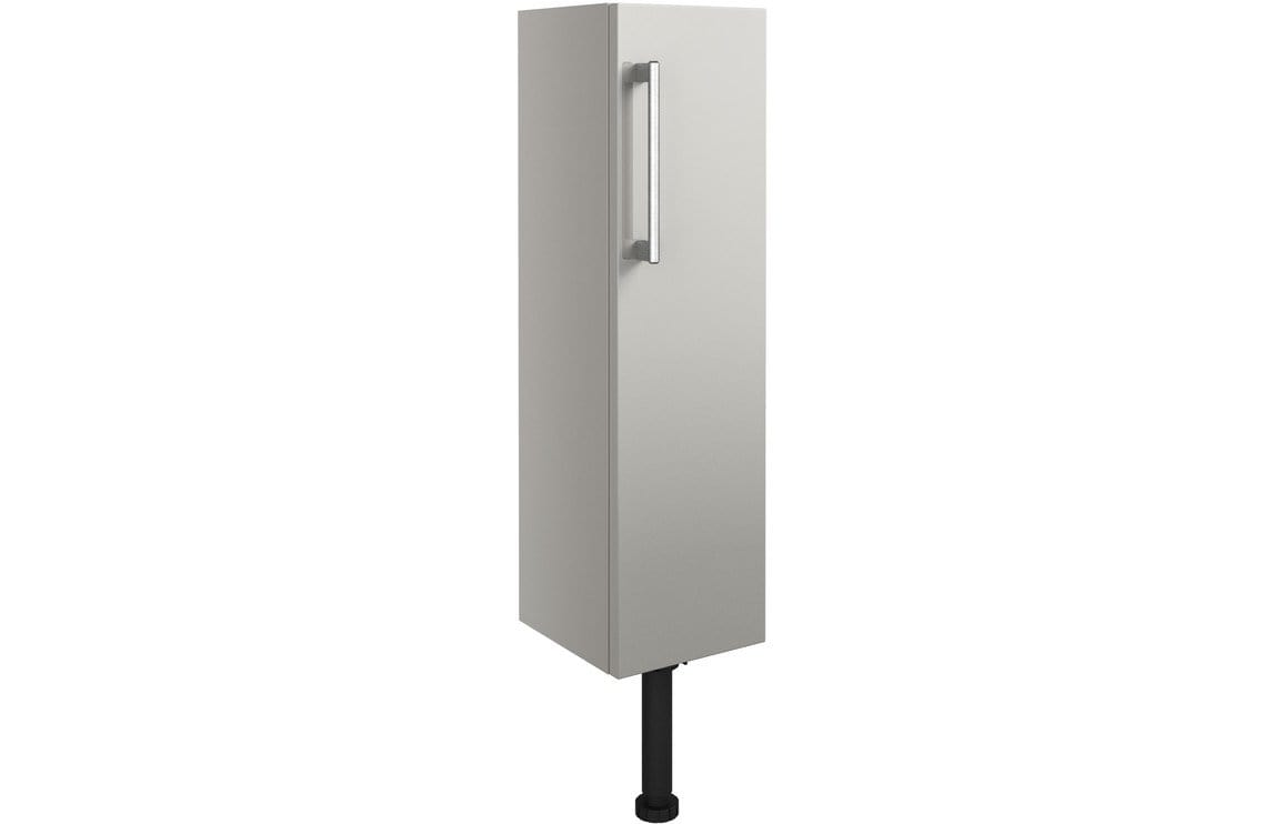 Bathrooms to Love Alba Light Grey Gloss 200mm Slim Base Unit DIFT1414
