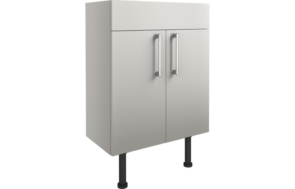 Bathrooms to Love Alba Light Grey Gloss 600mm Vanity Unit DIFT1330